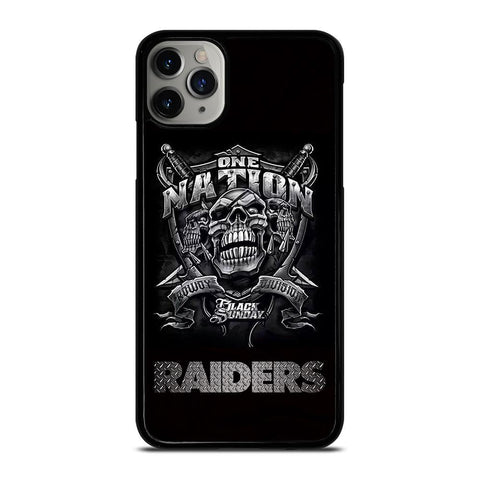 OAKLAND RAIDERS BLACK ONE NATION-iphone-11-pro-max-case