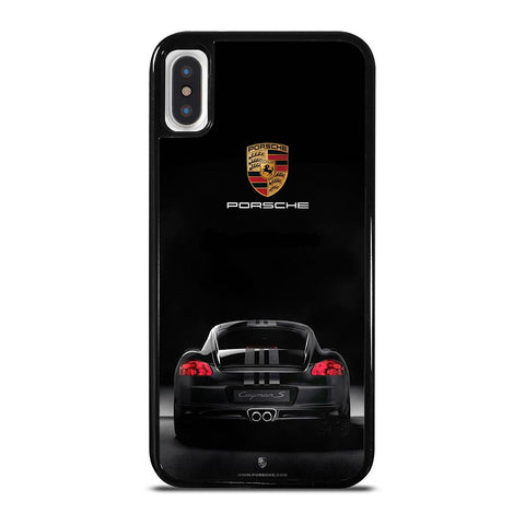 PORSCHE CAYMAN S BLACK iPhone X / XS Case