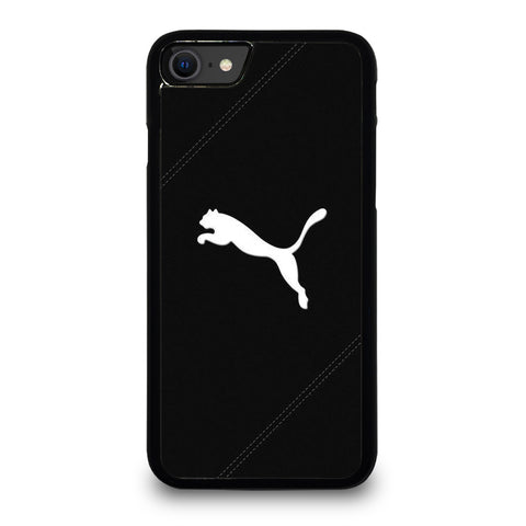PUMA LOGO BLACK LEATHER iPhone SE 2020 Case