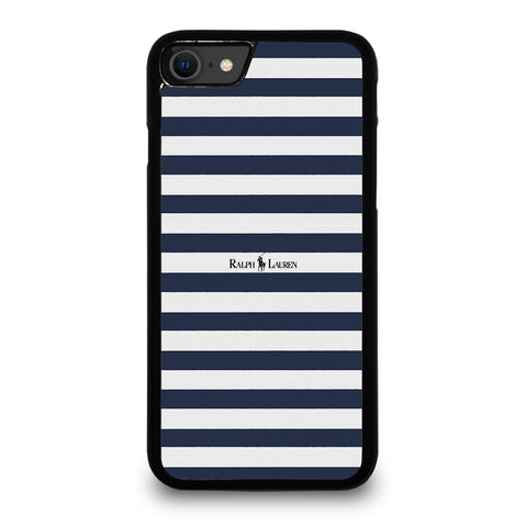 RALPH LAUREN POLO LOGO BLUE STRIPE iPhone SE 2020 Case