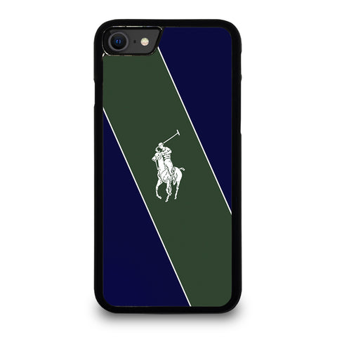 RALPH LAUREN POLO LOGO GREEN STRIPE iPhone SE 2020 Case