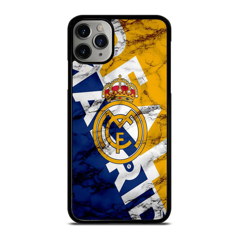 REAL MADRID MARBLE ART LOGO-iphone-11-pro-max-case