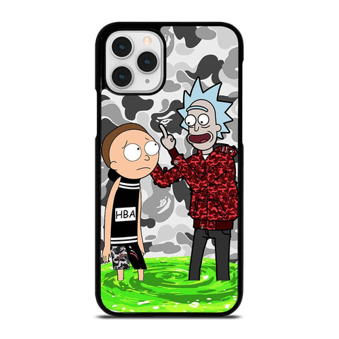 RICK AND MORTY BAPE-iphone-11-pro-case
