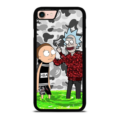 RICK AND MORTY BAPE-iphone-8-case