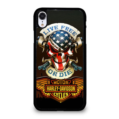 SKULL AND WINGS HARLEY DAVIDSON-iphone-xr-case