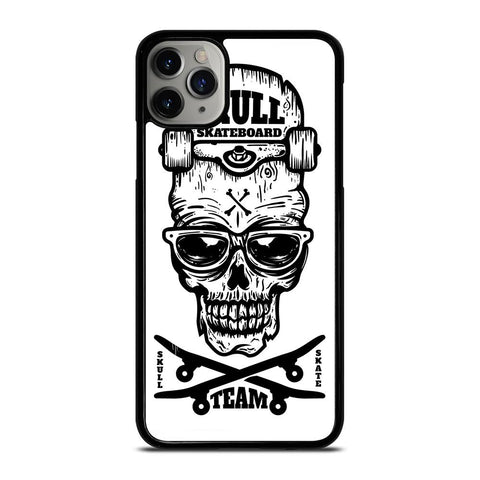 SKULL SKATEBOARD TEAM LOGO iPhone 11 Pro Max Case