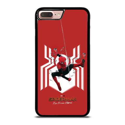 SPIDERMAN FAR FROM HOME LOGO RED ACTION iPhone 8 Plus Case