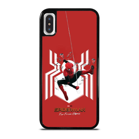 SPIDERMAN FAR FROM HOME LOGO RED ACTION iPhone X / XS Case