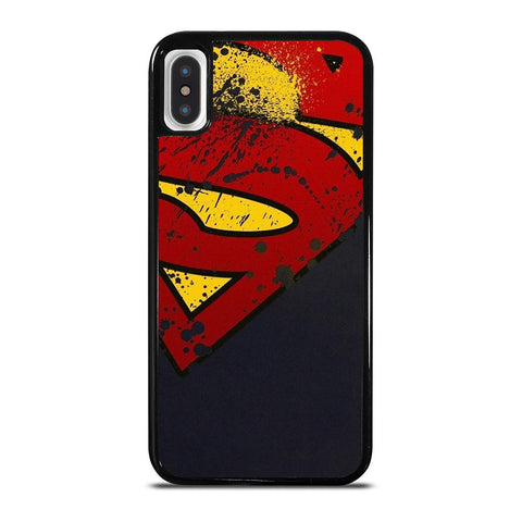 SUPERMAN LOGO BRUSH iPhone X / XS Case
