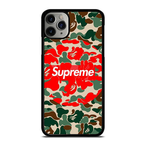 SUPREME BAPE CAMO iPhone 11 Pro Max Case