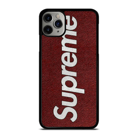 SUPREME LOGO ON CANVAS iPhone 11 Pro Max Case