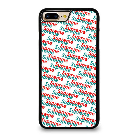 SUPREME RED BLUE PATTERN iPhone 7 Plus Case