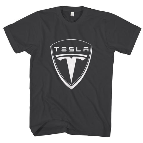 TESLA LOGO-mens-t-shirt-Black
