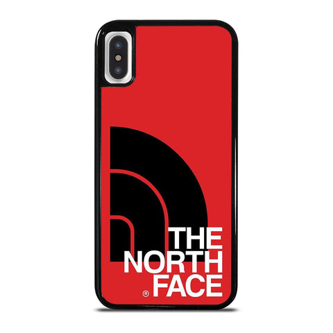 THE NORTH FACE LOGO BLACK RED iPhone X / XS Case