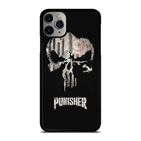 THE PUNISHER SKULL PAPER EFFECT ARTWORK iPhone 11 Pro Max Case