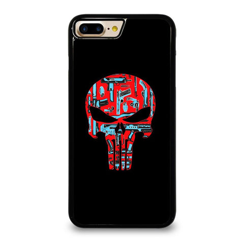 THE PUNISHER SKULL RED BLUE ARTWORK iPhone 7 Plus Case