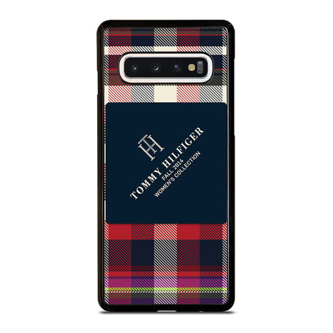 TOMMY HILFIGER RED BLACK PATTERN Samsung Galaxy S10 Case