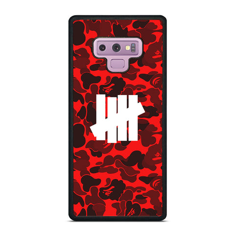UNDEFEATED BAPE CAMO RED Samsung Galaxy Note 9 Case