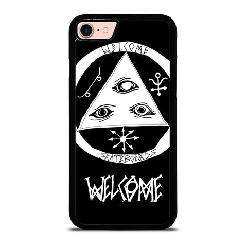WELCOME SKATEBOARDS LOGO BLACK iPhone 8 Case