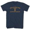 YELLOWSTONE DUTTON RANCH-mens-t-shirt-Navy