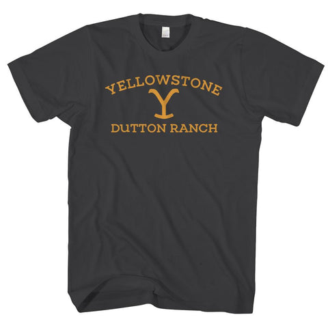 YELLOWSTONE DUTTON RANCH-mens-t-shirt-Black
