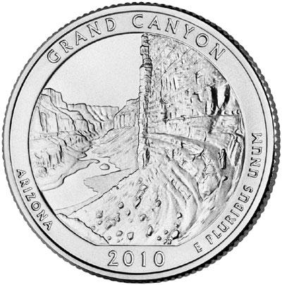 National Park Quarter: 2010 Grand Canyon (D)