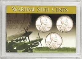 HE Harris Frosty Case for  Wartime Steel Cents, 3 Coin
