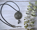 Load image into Gallery viewer, Triple Moon Goddess Crystal Necklace