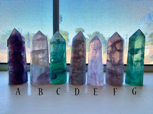 FLUORITE Towers ~ Purple, Green