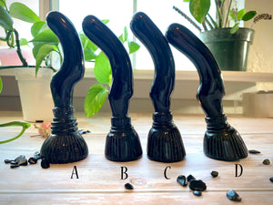Black OBSIDIAN Witch Brooms