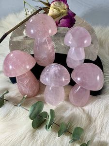 Star Rose Quartz Mushrooms