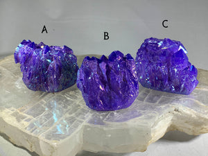 Purple Aura Quartz Clusters