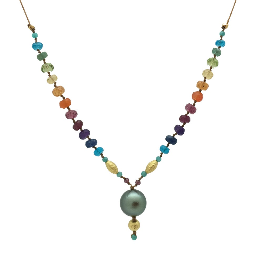 Tahitian Black Pearl & Gold Rainbow