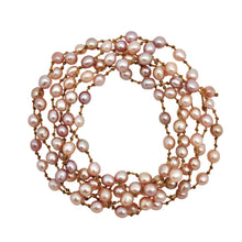Load image into Gallery viewer, Pink Momi Pearl Mala