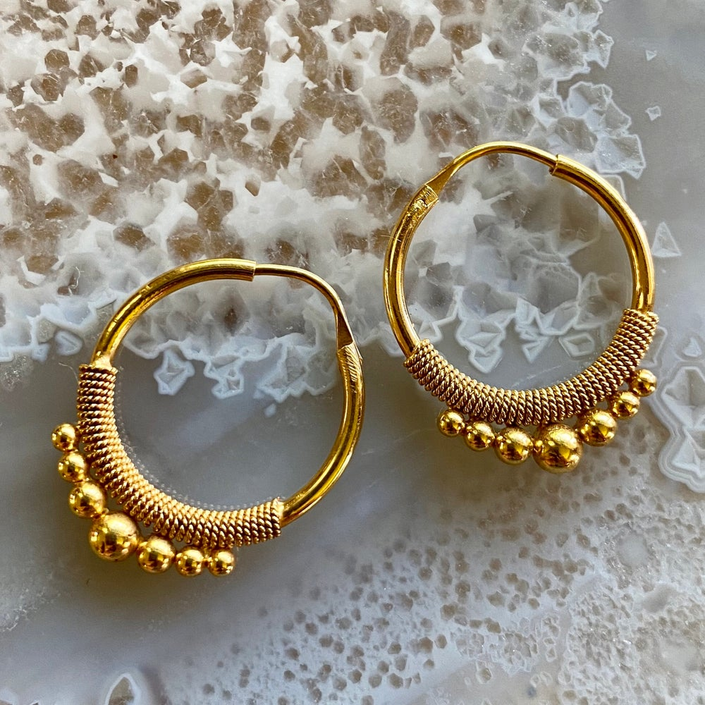 Large Plain Gold Hoops