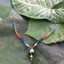 Load image into Gallery viewer, Tahitian Black Pearl & Gold Rainbow