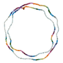 Load image into Gallery viewer, Aquamarine Rainbow Lei