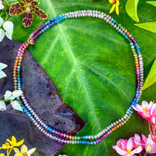 Load image into Gallery viewer, Morganite Rainbow Lei