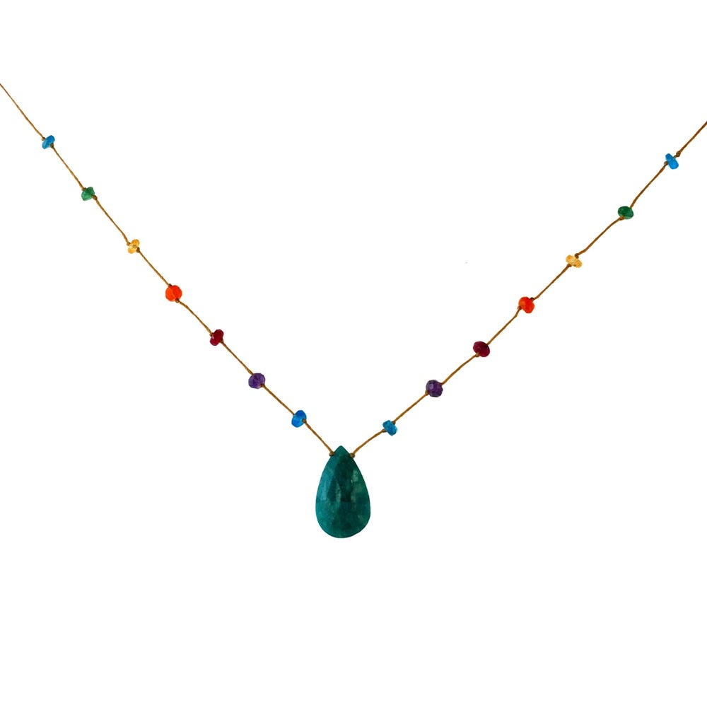 Amazonite Rainbow Drop