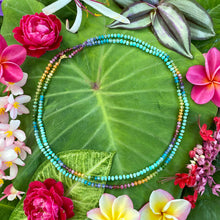 Load image into Gallery viewer, Aqua Amazonite Rainbow Lei