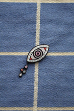 Load image into Gallery viewer, Hand Embroidered Brooch - Eye & Tears