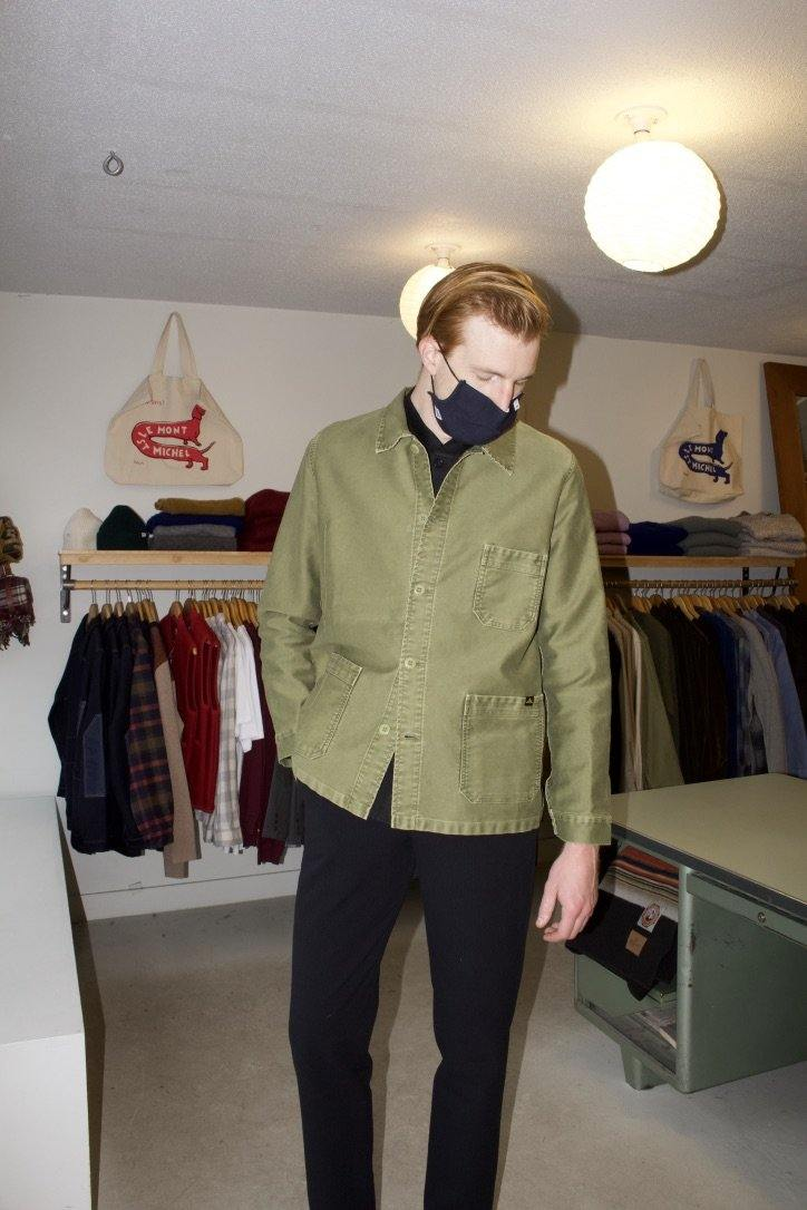 Vintage Washed Work Jacket - Olive