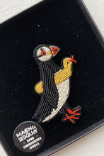 Load image into Gallery viewer, Hand Embroidered Brooch - Puffin