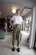 Load image into Gallery viewer, Vintage Washed Wide Work Trousers - Olive Khaki