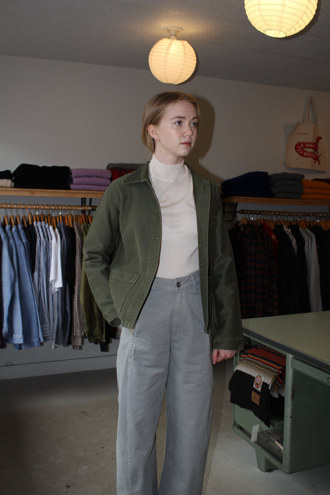Work Jacket - Khaki Green