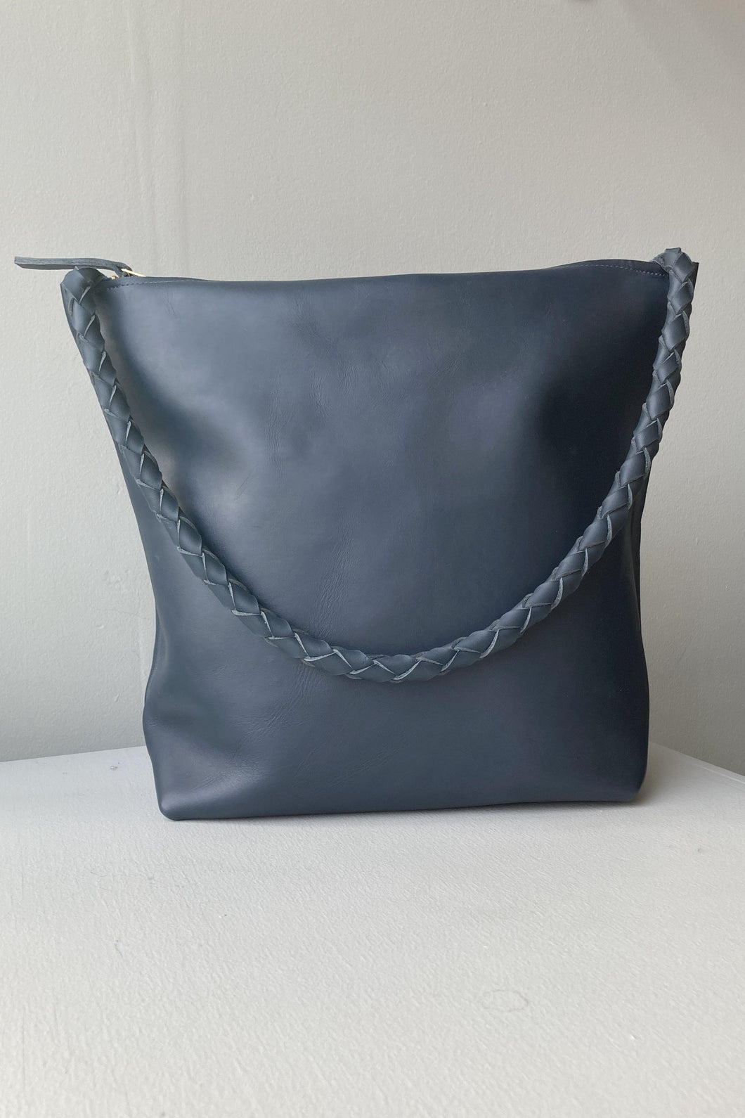 No. 1 Zipper Tote - Blue
