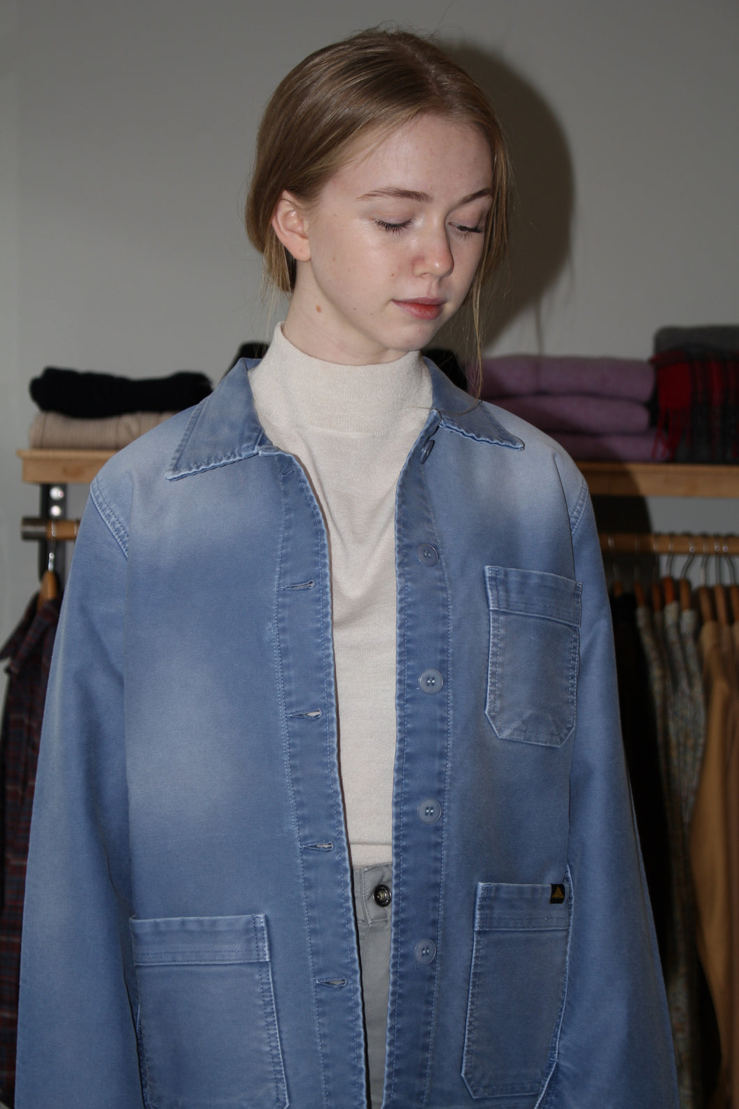 Washed Work Jacket - Blue