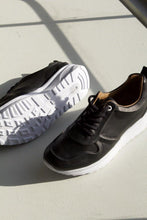 Load image into Gallery viewer, Korbin - Black Leather Sneaker
