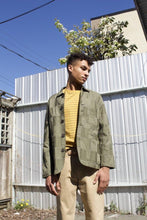Load image into Gallery viewer, Bakers Jacket - Olive Patchwork Twill
