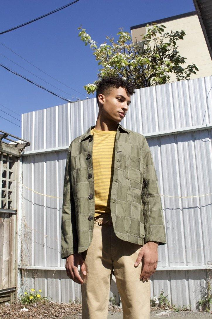 Bakers Jacket - Olive Patchwork Twill